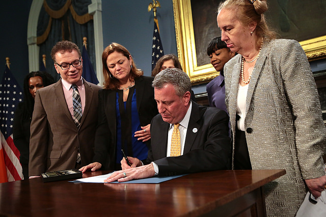 Mayor Bill de Blasio Delivers Remarks and Signs Bill to Protect Interns From Discrimination in the Workplace on Tuesday, April 15 Photo: Ed Reed for the Office of Mayor Bill de Blasio