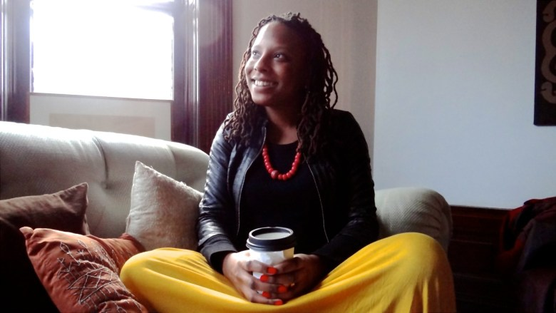 Brittanie Richardson, at a friend's home in Bed-Stuy, where she is preparing for her trip to Kenya