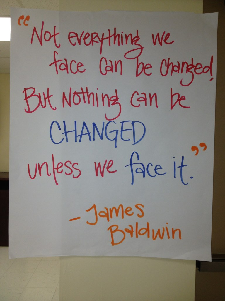 FEEST Dinner Quote from James Baldwin
