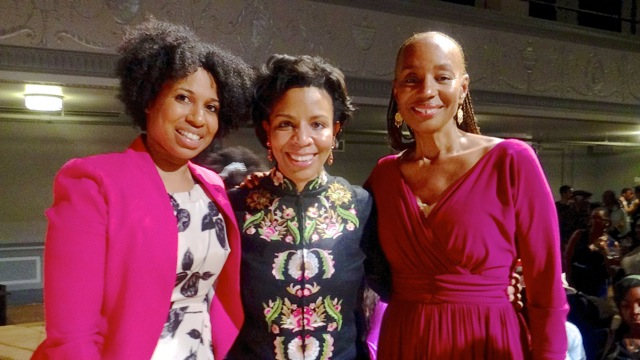 """(l to r) Assistant Health Commissioner Dr. Aletha Maybank, City Councilmember Laurie Cumbo and Susan L. Taylor at """"The Courage to Change"""" fundraiser for YWCA of Brooklyn"""