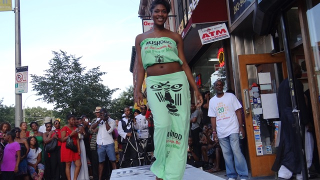 Moshood Celebrates its 20th Year Anniversary with a fashion show outside of the flagship store on Fulton St