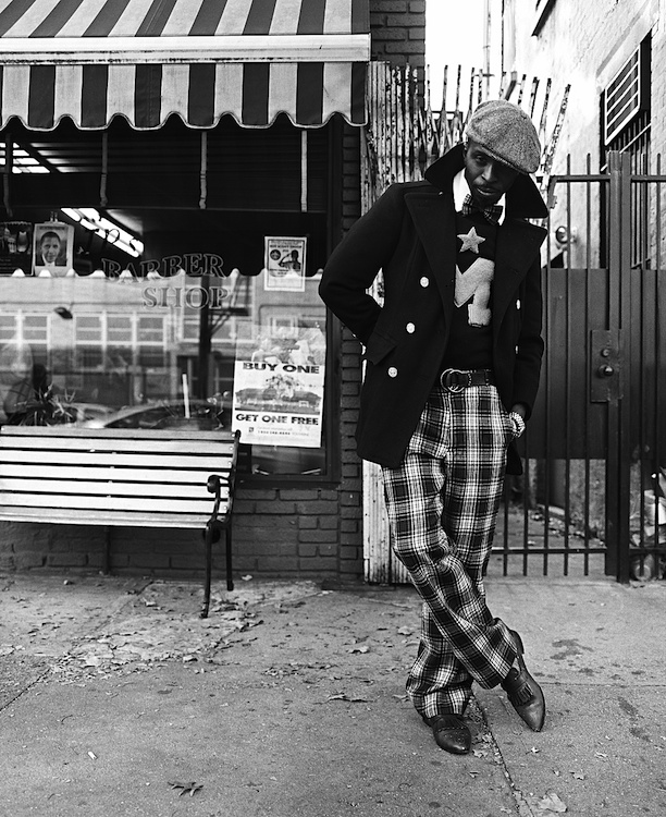 """Fall, 2010 -- Alanzo Dale is of Panamanian heritage and has been a Bedford Stuyvesant resident for almost 20 years. Mr. Dale is an event planner with the """"Block Association"""" and he is one of the founders of the """"Brooklyn Circus"""" clothing line. Photo: Russell Frederick"""
