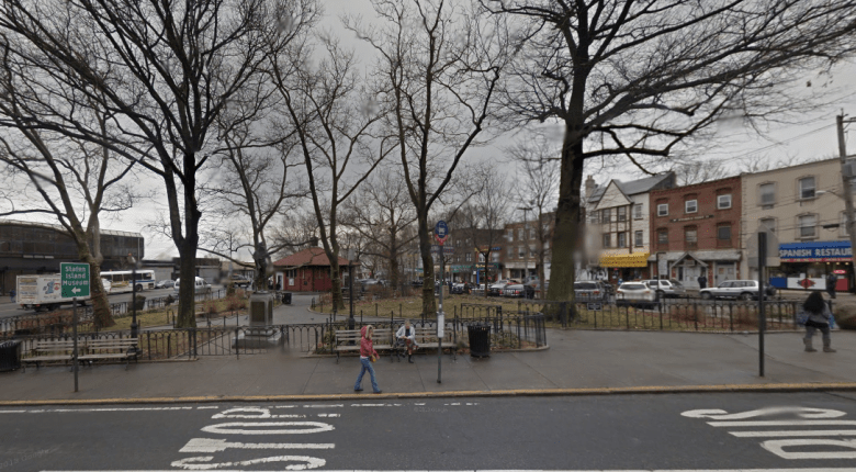 Tompkinsville Park, across the street from the deli where Eric Garner was killed while being placed in a chokehold by NYPD