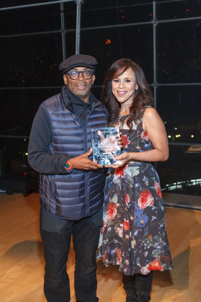 Spike Lee and Rosie Perez