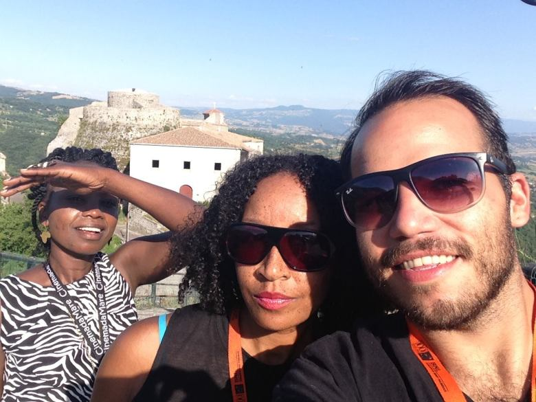 Martin with other filmmakers in Muro Lucano, Italy