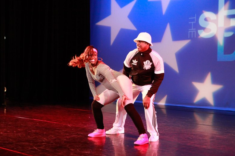 State Sen. Kevin Parker and Zakiyah Williams dance at the 2012 competition, where they took home the winning trophy!