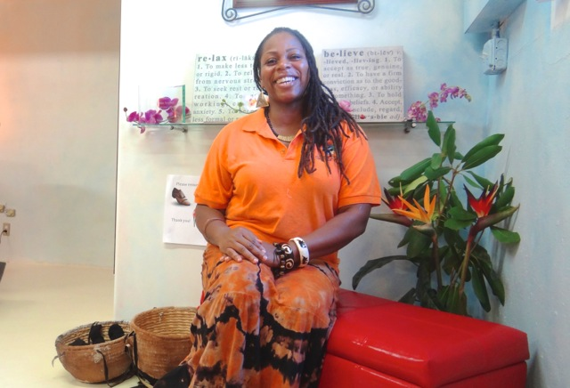 Sheree Sophas, owner of Surreal Serenity Salon