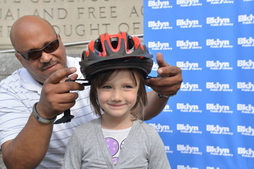 Helmet Giveaway, Bike the Branches, Brooklyn Public Library