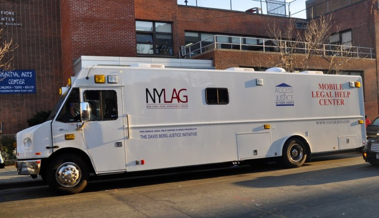 NYLAG free mobile legal advice, vans, appointments