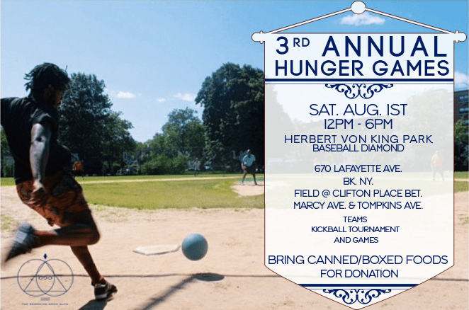 Hunger Games, Von King Park, Brooklyn Good Guys, 3rd Annual, Kickball tournament, Bed-Stuy Campaign Against Hunger, food drive