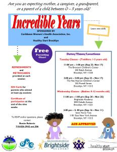 CWHA Parenting class all location