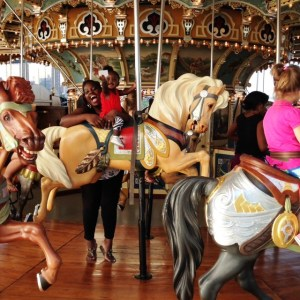 Who Is Having More Fun? (Admission is $2 for adults; children under 3 years may ride free with an adult)