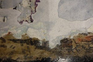 water damaged stucco in the subway or Japanese watercolor? (Photo by Sotero Bernal)