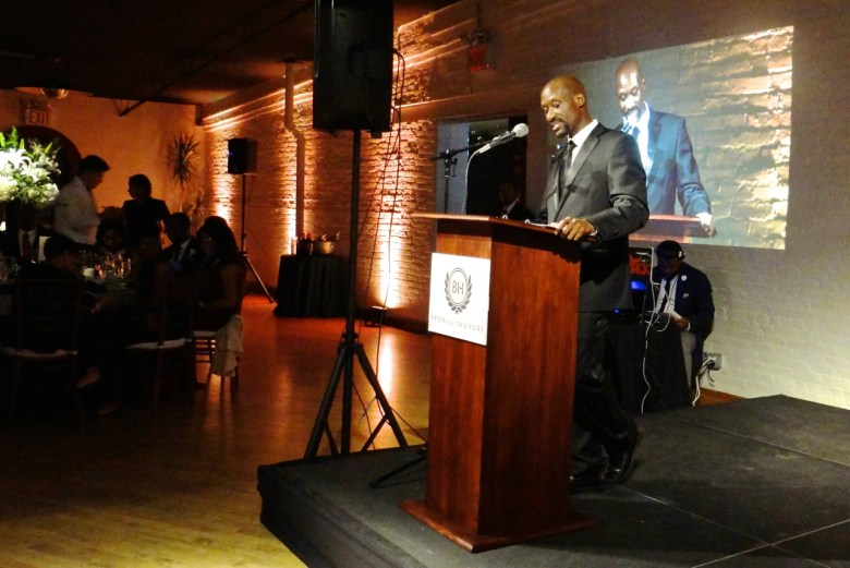 Dordy Jourdain, executive director of the Bedford-Stuyvesant YMCA, opens the 3rd Annual Brooklyn Honors