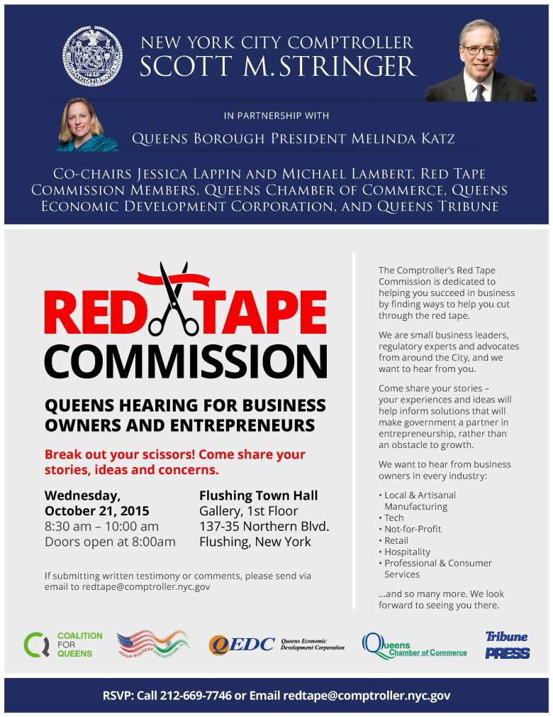 Red Tape Commission Queens Flyer