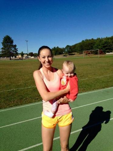 Mothers who ran Marathon while pregnant post pics of their babies