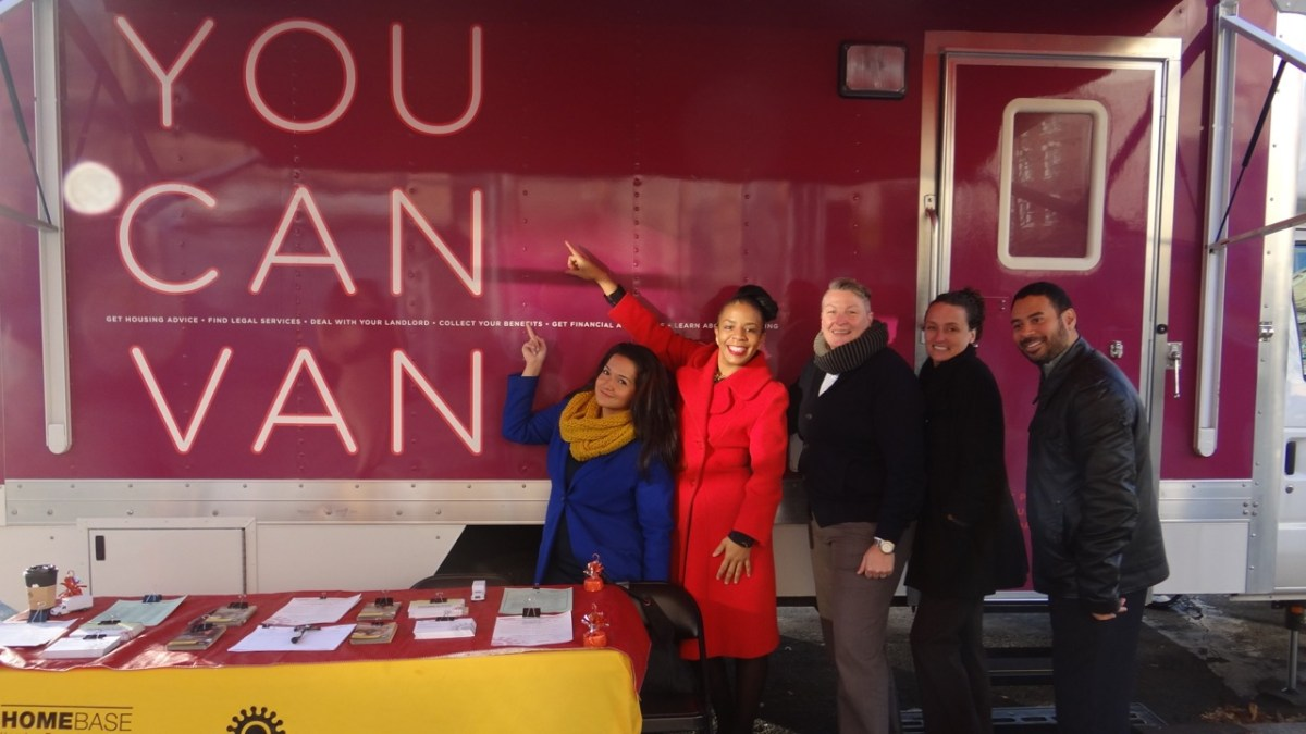 You Can Van, CAMBA, Laurie Cumbo, Melissa Mowery, homelessness, homeless services, outreach, mobile van, eviction prevention, housing, Brooklyn