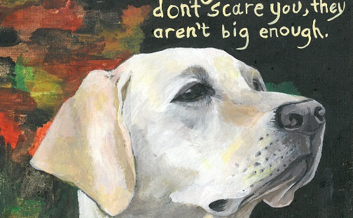 Harriet Faith, Art, Illustration, Pay Attention To Your Dreams, Quotes, Inspiration, Motivation, Dreams, Hand Lettering, Drawing, Painting, Golden Lab, Pet Portraits, Big Dreams, Scary