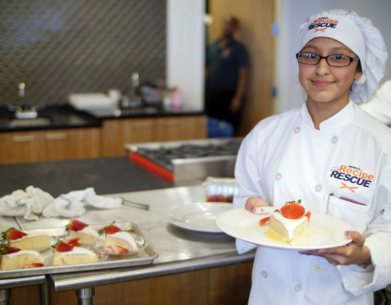 Evelyn Corona Ramirez, 14, first-place winner of the 2016 Recipe Rescue cooking competition