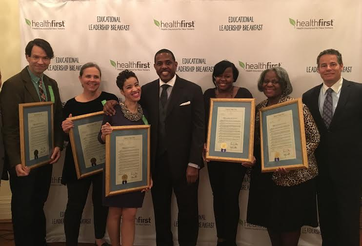 Senator Kevin Parker (center) with honorees at the 5th Annual Educational Leadership Breakfast