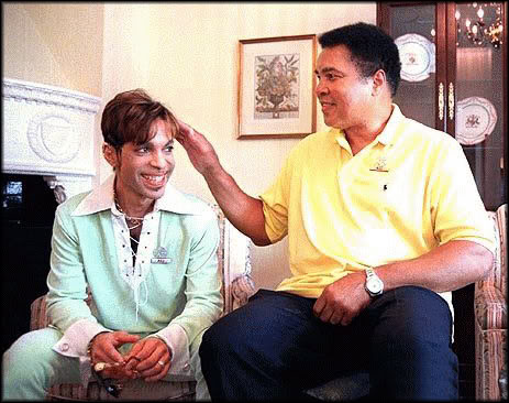 This is Prince and his hero, Muhammad Ali
