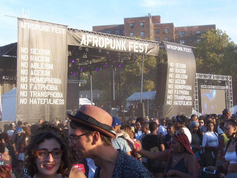 The gold stage at Afropunk 2016