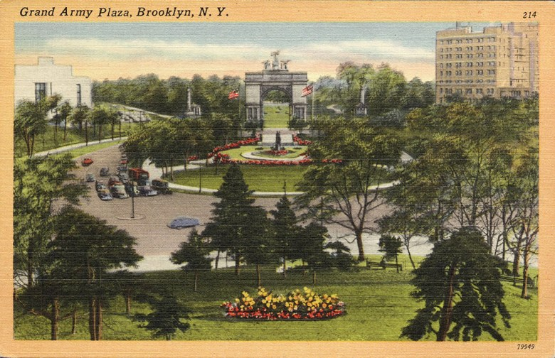 Brooklyn Public Library, View, Grand Army Plaza, Library