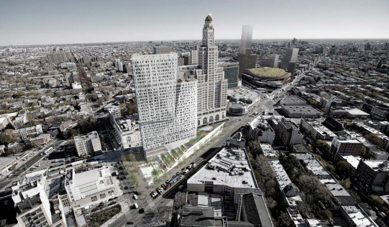 Rendering of new apple store in Fort Greene/Downtown Brooklyn Business District