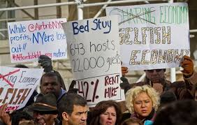 Anti-Airbnb, rally, NYC