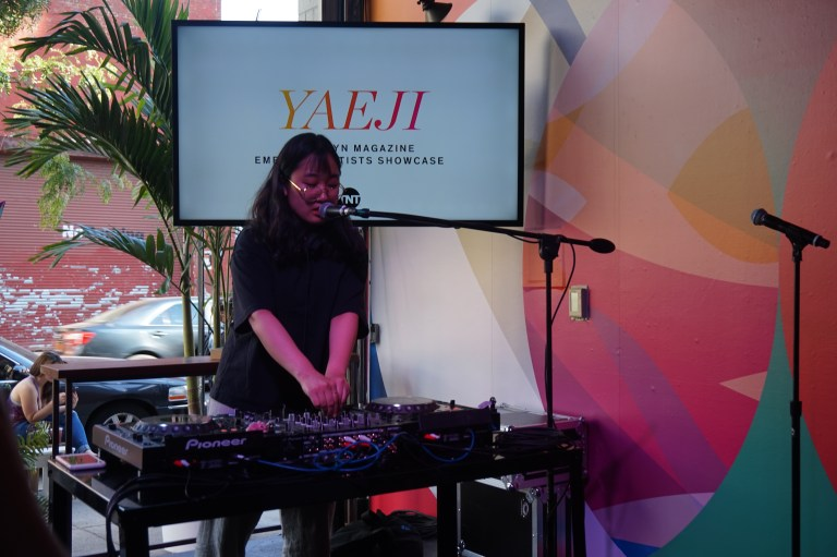 The Brooklyn Magazine Emerging Artist Yaeji Performing at the TNT Backstory Stage.