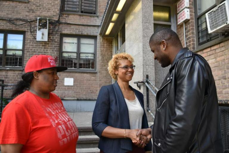 Ede Fox, BK Reader, Tenants PAC, 35th District, Laurie Cumbo, housing affordability, gentrification, NY City Council, NYC election 2017, Bedford Union Armory, redevelopment, Shola Olatoye, NYCHA, housing affordability