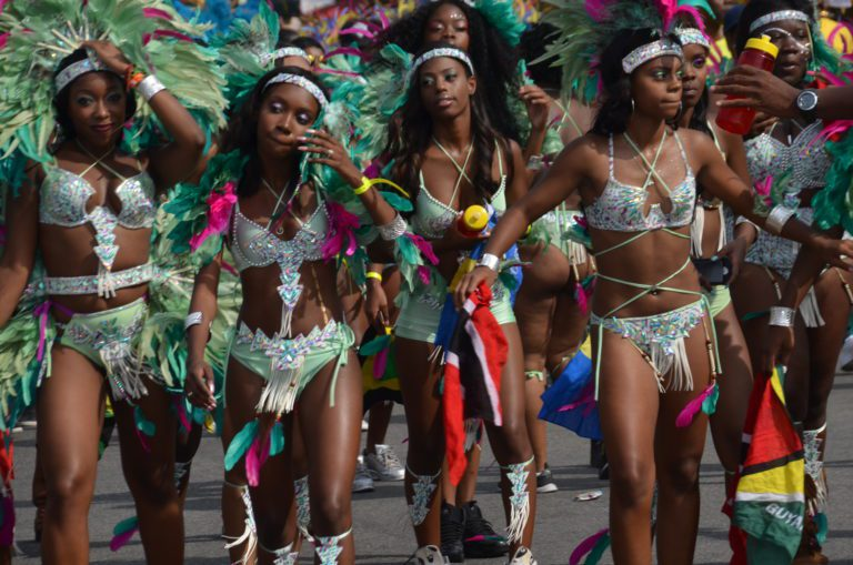 """Carnival Culture, Brooklyn Museum, BK Reader, West Indian Day Parade, J'Ouvert, community safety, women safety, Caribbean safety culture, Lyrika, caribBeing, carnival, Rosamond S. King, Shelley Werrell, Nicole """"Zyoness, Crowley, Pastor Monrolse,"""