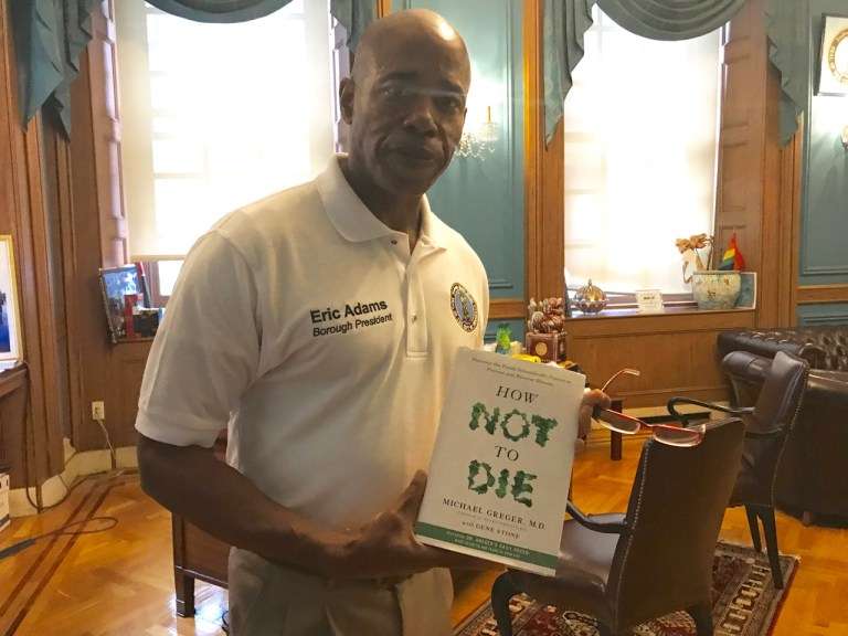 Diabetes, How Not to Die, Dr. Michael Greger, Brooklyn Borough Presidents office, plant-based diets, healthy eating, food as medicine, Eric. L. Adams, public discussion