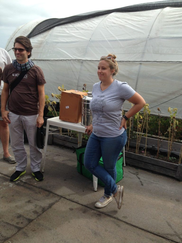 Tinyfield, BK Reader, urban farming, rooftop farm, Community Supported Agriculture, CSA, Strong Rope, Bedford-Stuyvesant, Pfizer building, Tinyfield Roofhop Farm, Keely Gerhold, Acumen, Ashish Dua, urban development, urban agriculture, Brooklyn rooftop farm