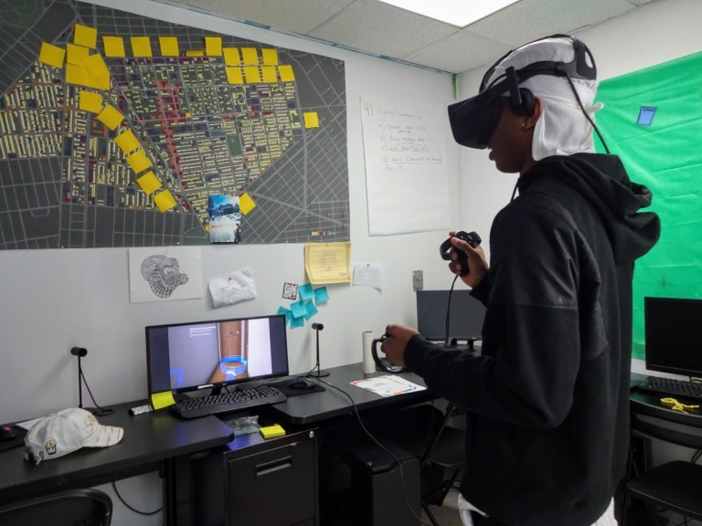 Brownsville virtual reality game, Fireflies: A Brownsville Story, Brownsville Community Justice Center, Ray Graham, Julie Taylor, Adrian Richardson, virtual reality technology, Brownsville media image, Brooklyn youth in tech, Brownsville STEM, bkreader, Shiloh Frederick