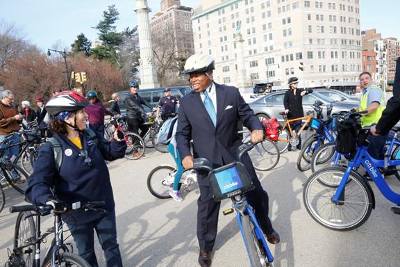 Join the BP and ride your bike to work for Earth Day.
