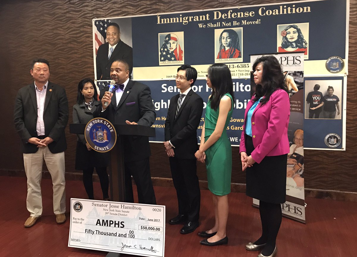 Senator Hamilton is allocating $185.000 in additional funding to local immigrant advocacy groups.