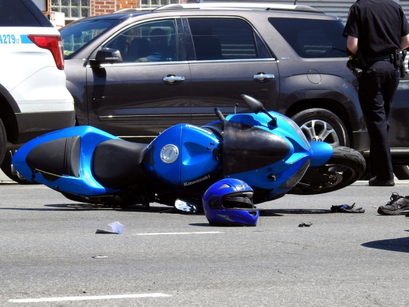Motorcyclist killed in crash while following funeral procession