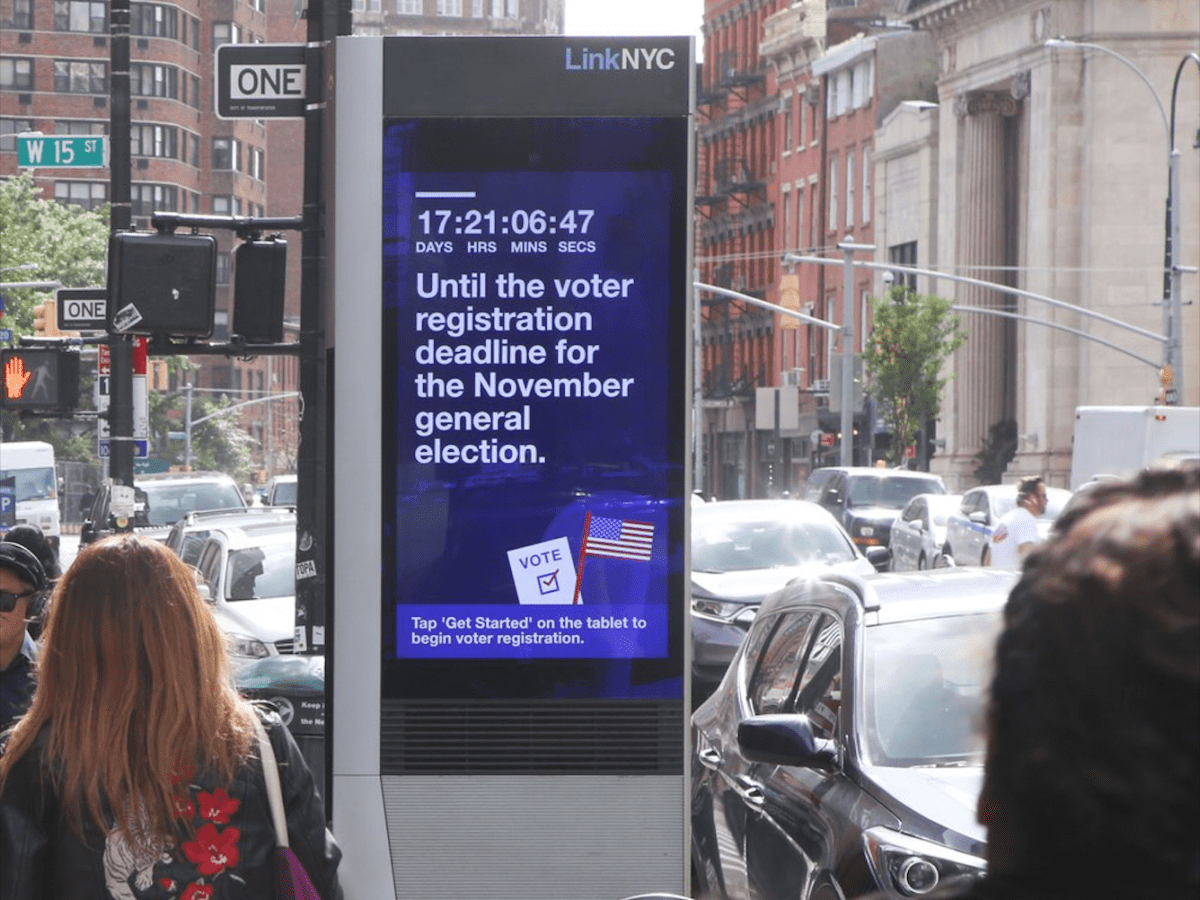 New Yorkers now can begin the registration process on LinkNYC kiosks throughout the five boroughs, the city announced.