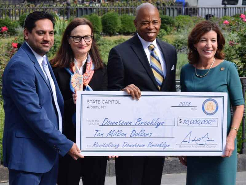 Brooklyn won a $10 million state grant to revitalize the Downtown area.