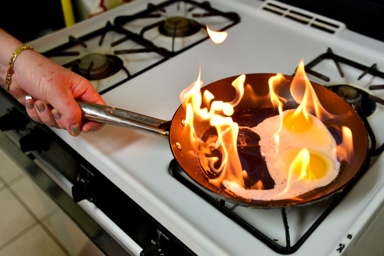 Unattended food can burn quickly, and if you are using oil, a fire could break out quickly.