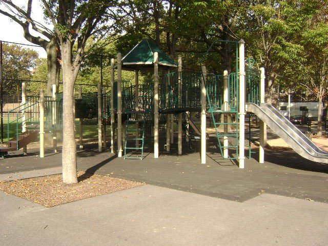 Cypress Hills Playground in East New York is closed for renovations.