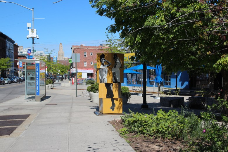 The DOT Art program partners with community-based organizations and professional artists citywide to present temporary public art on DOT properties for up to 11 months.