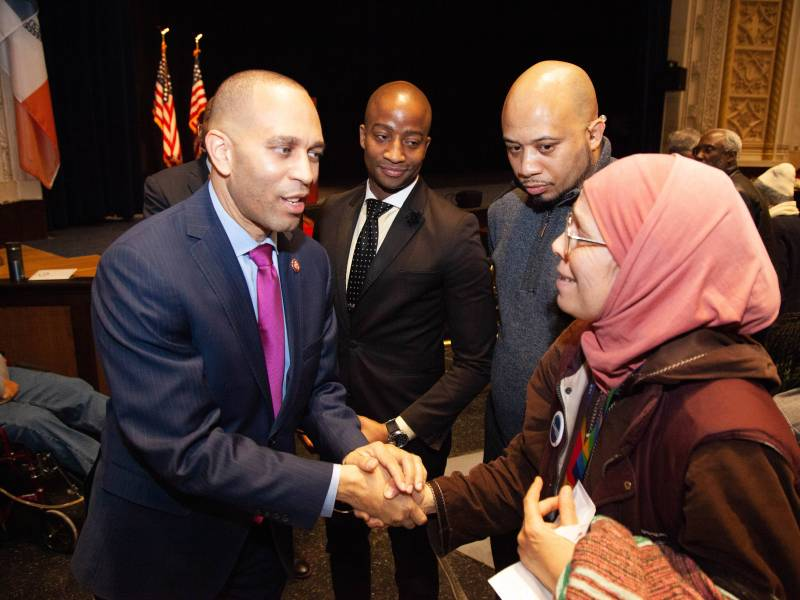 Congressman Hakeem Jeffries issued a sharp rebuke against President Trump's divisive rhetoric and politics at his annual State of the District Address