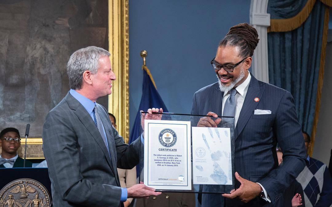 As a newly-minted Guinness World Record-holder, Councilmember Cornegy is bringing politics to new heights.