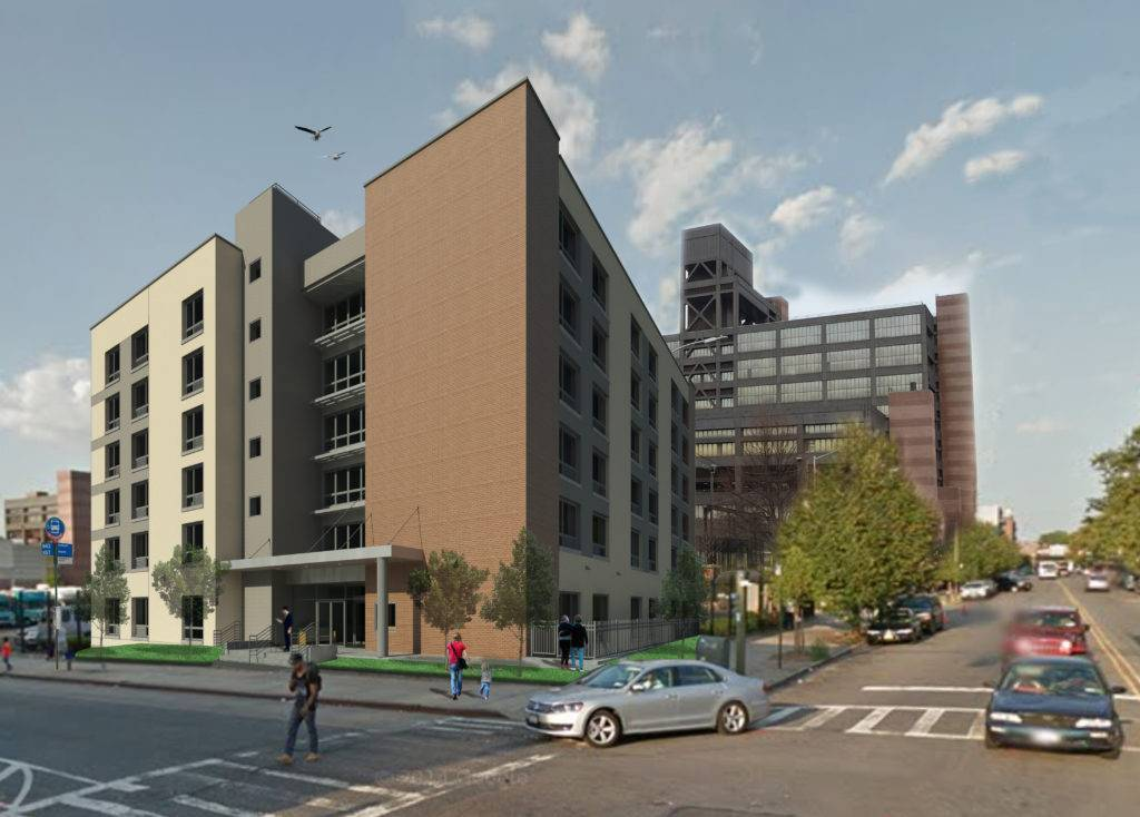 The development on Woodhull's former parking lot will bring 89 affordable studios, 54 of which are reserved for formerly homeless adults with special needs