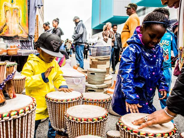 DanceAfrica's beloved bazaar returns, featuring more than 150 vendors from around the world, offering African, Caribbean, and African-American food, crafts, and fashion.