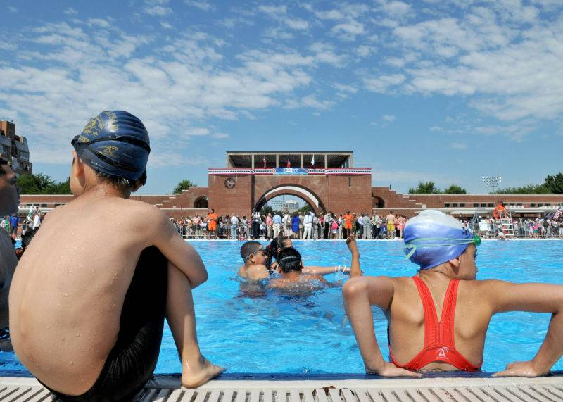 Brooklynites can cool down at eight different public pools in Bushwick, Bedford Stuyvesant, Brownsville, East Flatbush and Fort Greene.