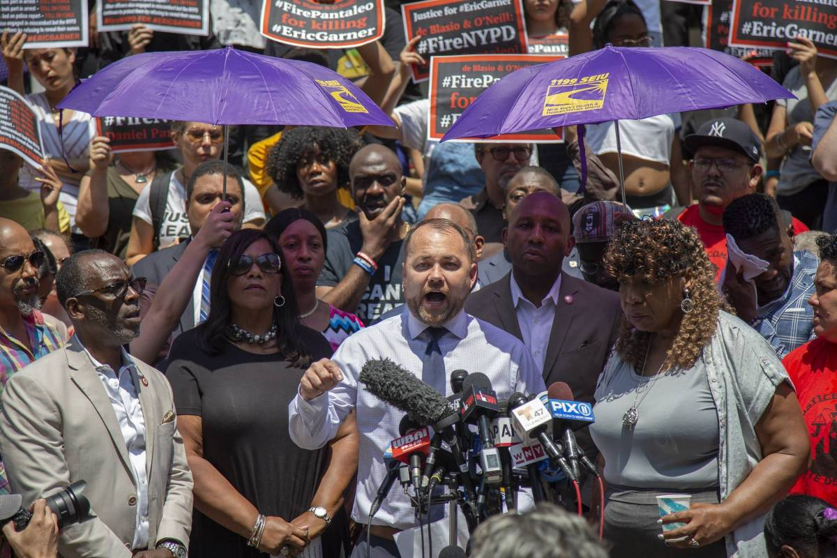 In a joint letter, members of the City Council's Black, Latino, Asian and Progressive Caucuses, the termination of Pantaleo and all officers involved in Eric Garner's death