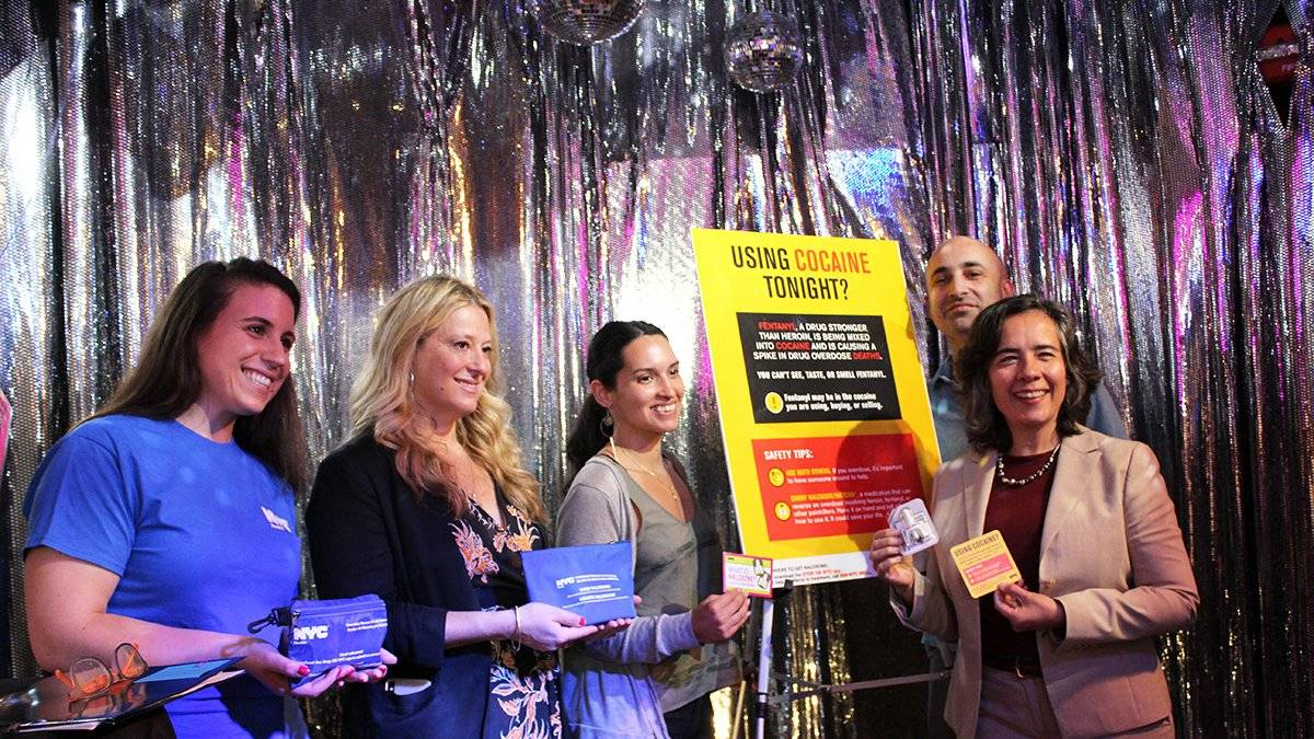 The fentanyl outreach campaign will appear on coasters and posters in Bushwick venues and include naloxone training for staff.
